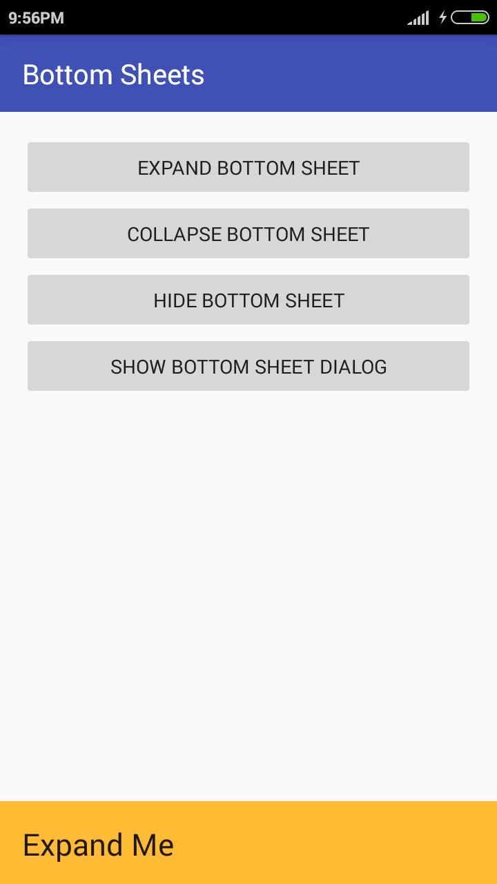 Collapse Bottom Sheet