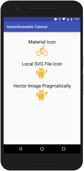Vector Drawable Show Case