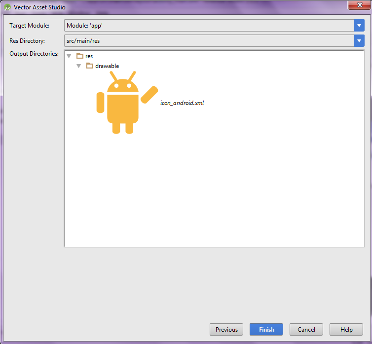 how to create a drawable icon in android