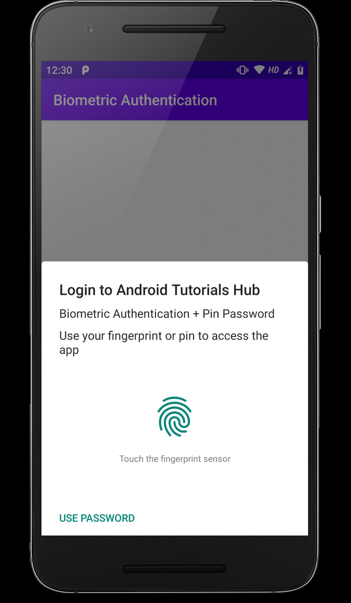 Fingerprint + PIN Authentication